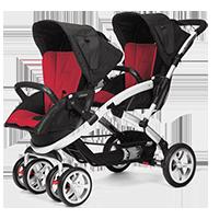 CASUALPLAY Wózek dla bliźniąt Stwinner 2015 - Raspberry