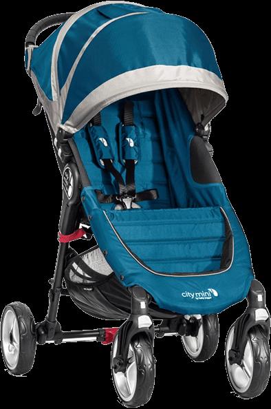 BABY JOGGER Wózek City Mini 4-kołowy - Teal/Gray