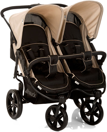 HAUCK Wózek dla bliźniąt i rodzeństwa Roadster Duo SLX caviar/almond 2016