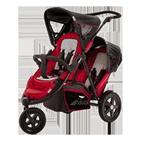 HAUCK Wózek dla bliźniąt i rodzeństwa Freerider SH12 red 2016