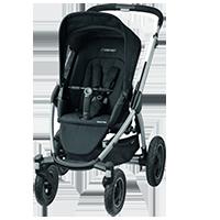 MAXI-COSI Mura 4-kołowy wózek Black Raven